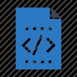 coding, document, files, programming, scripting icon