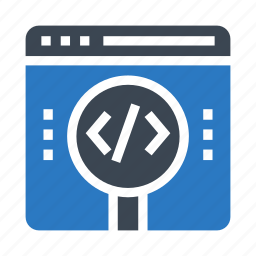 coding, online, programming, searching, webpage icon