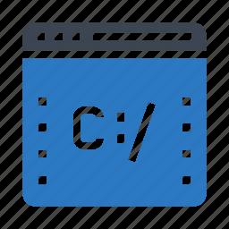 coding, internet, online, scripting, webpage icon