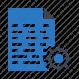 coding, development, file, programming, setting icon