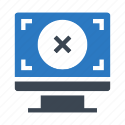 delete, display, focus, lcd, monitor icon