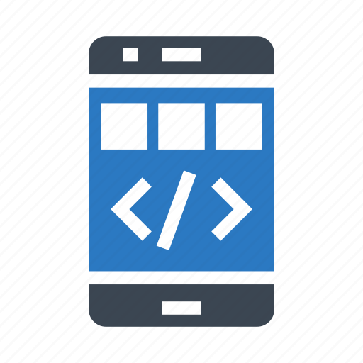 coding, device, gadget, mobile, phone icon