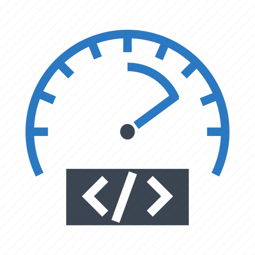 coding, meter, performance, programming, speed icon