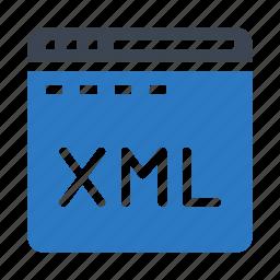 internet, programming, webpage, window, xml icon