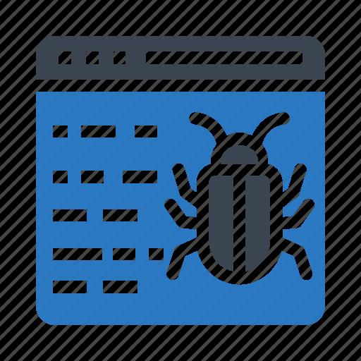 bug, internet, malware, threat, virus icon
