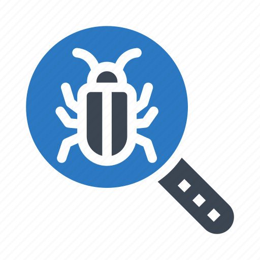 bug, magnifier, search, threat, virus icon