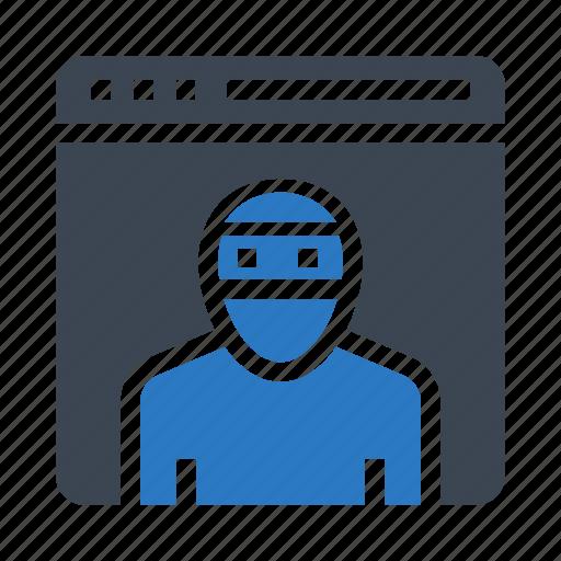 browser, internet, online, threat, webpage icon