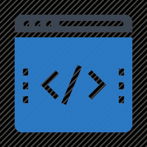 coding, internet, programming, scripting, webpage icon