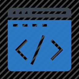 browser, coding, internet, programming, window icon