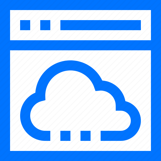 browser, cloud, compute, data, programming, storage, technology icon