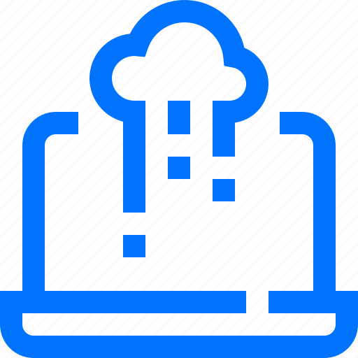 cloud, compute, data, notebook, programming, send, technology icon