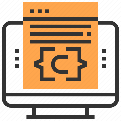 coding, computer, development, programmer, programming, software, workplace icon