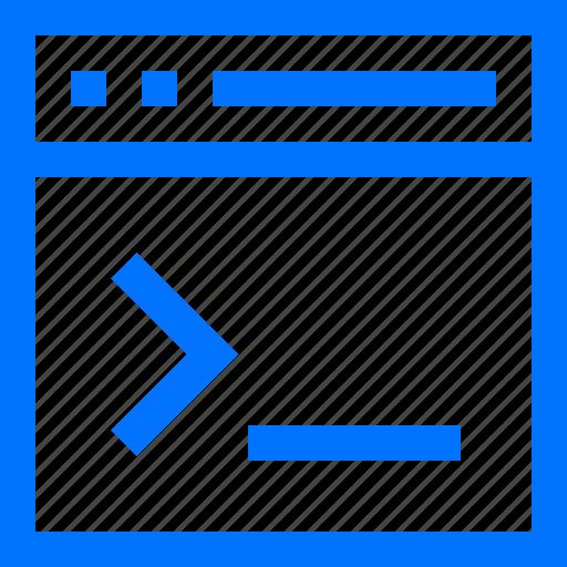 browser, coding, command, cursor, line, programming, write icon