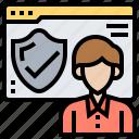 administer, authorized, permission, program, protect icon