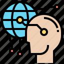 ai, cyberspace, digital, global, virtual icon