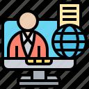 account, computer, identity, internet, register icon