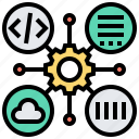 command, languages, operation, programming, script icon