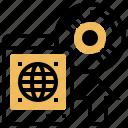 arrow, disk, program, software, upload