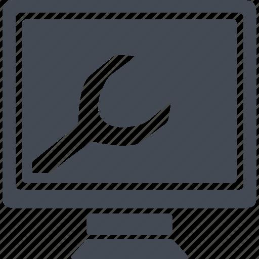 computer, display, monitor, programming icon