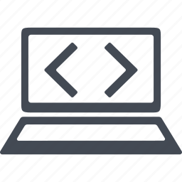 computer, development, monitor, programming icon