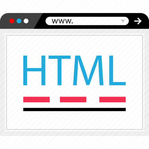 code, html, online, web icon