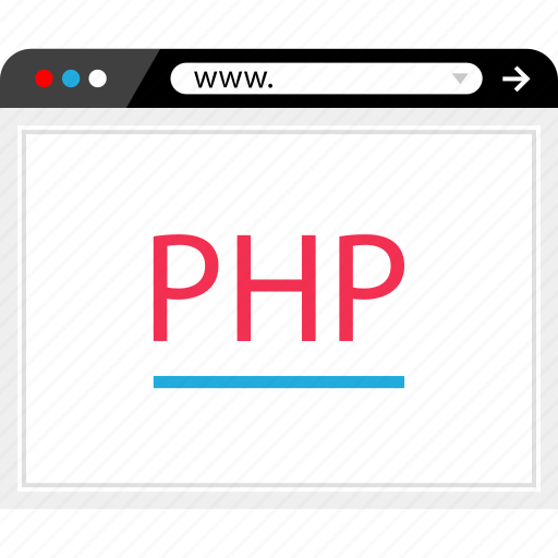 code, internet, php, program icon