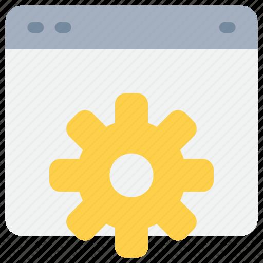 browser, develop, gear, process, programming, website icon