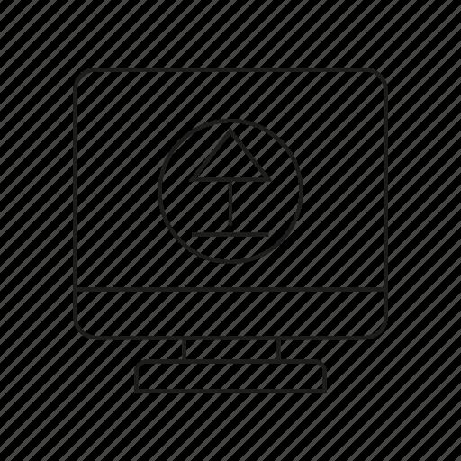 arrow, computer, data, desktop, device, upload icon