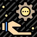 algorithm, communication, internet, office, software, website, working icon