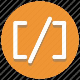 brackets2, code, coding, develoment, programming, web icon