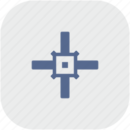 aim, cursor, rounded, square, target icon