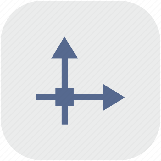 axis, grid, math, rounded, square icon
