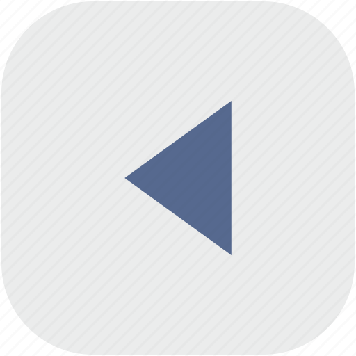 back, last, rounded, square icon