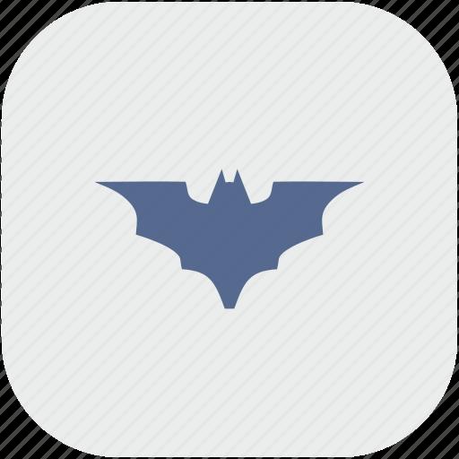bat, batman, rounded, square, vampire icon