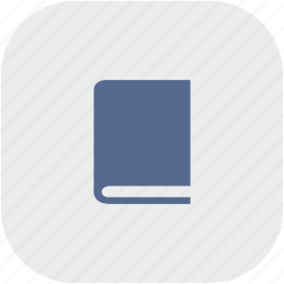 bible, book, glassary, rounded, square icon
