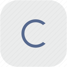 c, copy, copyright, letter, rounded, square icon