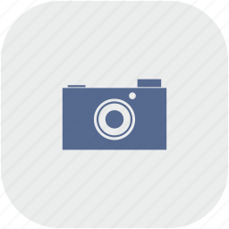 camera, digital, photo, rounded, square icon