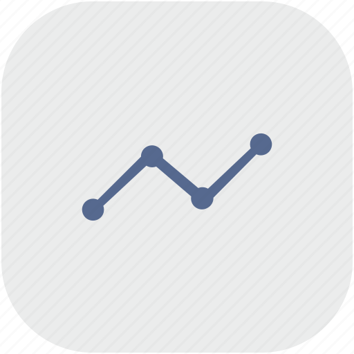 chart, data, grow, rounded, square icon