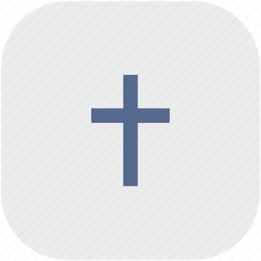 christian, cross, religion, rounded, square icon