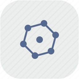 complex, figure, geometry, rounded, square icon