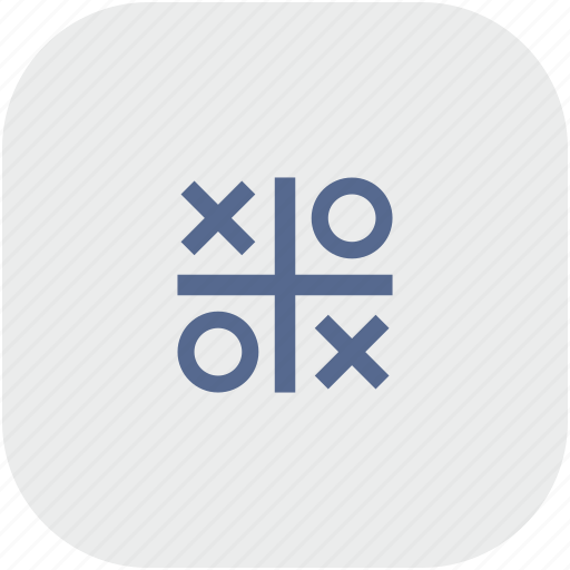cross, game, rounded, square, zero icon