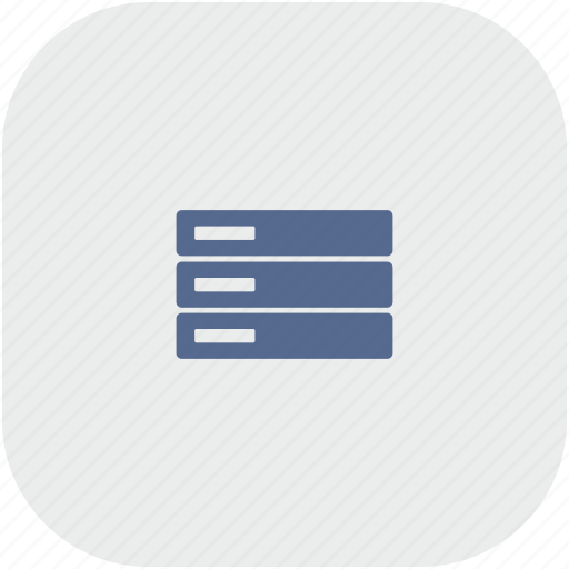 database, rounded, server, square, storage icon