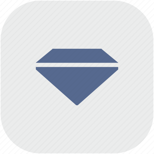 brilliant, diamond, rounded, square icon
