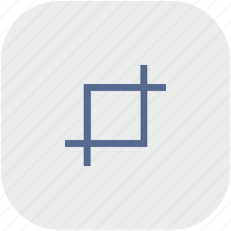 crop, edit, rounded, square, tool icon