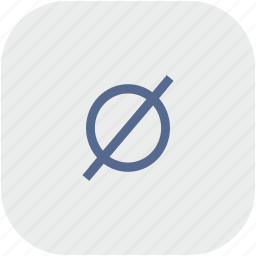 empty, mathematics, rounded, set, square icon