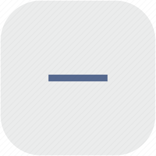 cut, erase, minus, rounded, square icon