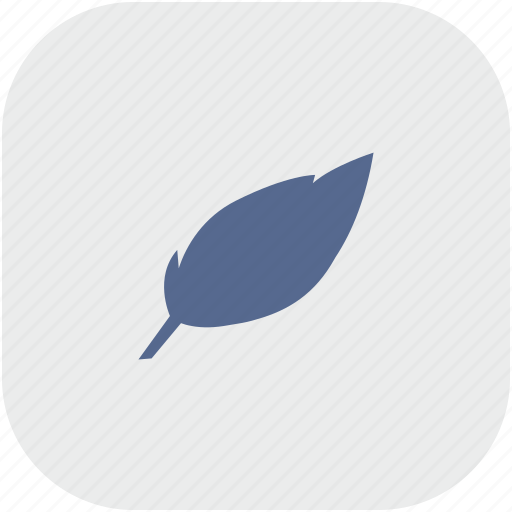 art, feather, pen, rounded, square icon