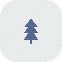 fir, forest, rounded, square, tree icon