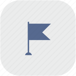 flag, point, pointer, rounded, square icon