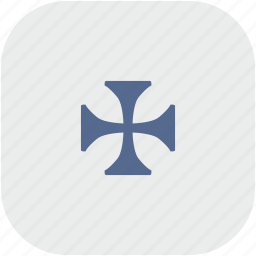 cross, emblem, history, rounded, square icon